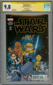 Star Wars #1 Baby Variant CGC 9.8 Signature Series Signed Skottie Young Marvel comic book